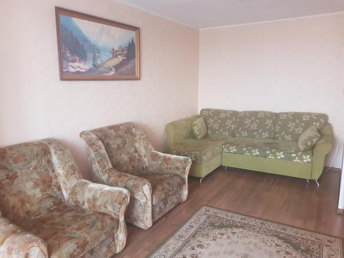 A seating area at Апартаменты Зеленоград