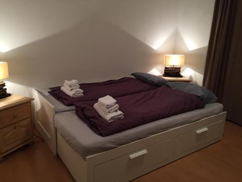 Ein Bett oder Betten in einem Zimmer der Unterkunft Hotel Ristorante LIDO