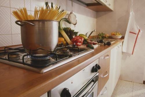A kitchen or kitchenette at Residence Hotel Health House