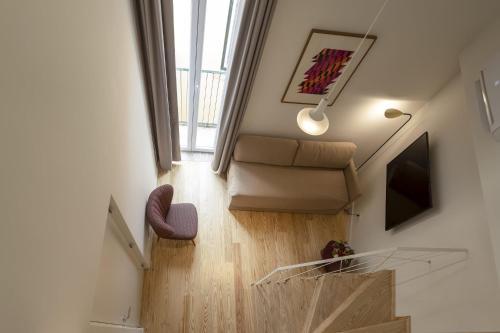 A seating area at Lisbon Serviced Apartments - Santos