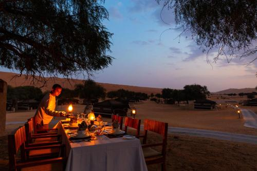 A restaurant or other place to eat at Thousand Nights Camp