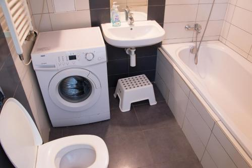 Ванная комната в Stupkova 2 Apartmán