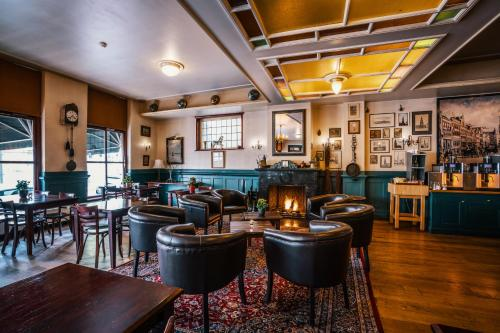 The lounge or bar area at Martini Hotel
