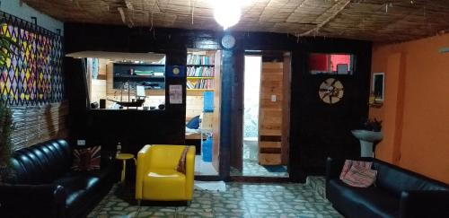 The lobby or reception area at Hostel UFPE INN