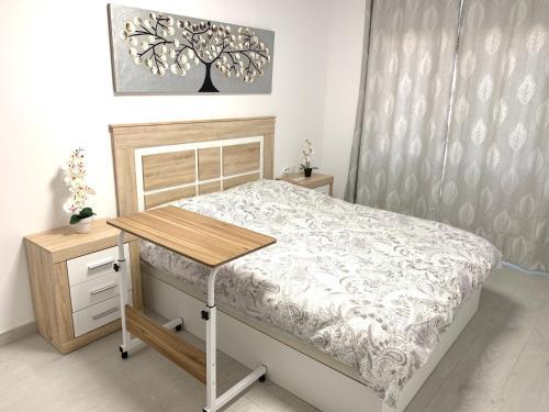 Cama o camas de una habitación en MODERN APARTMENT IN CENTER OF NOVELDA