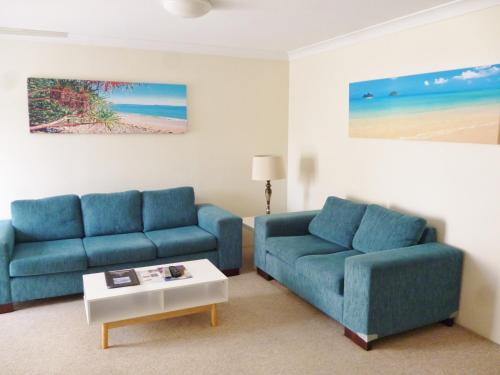 A seating area at Le Lavandou Holiday Apartments