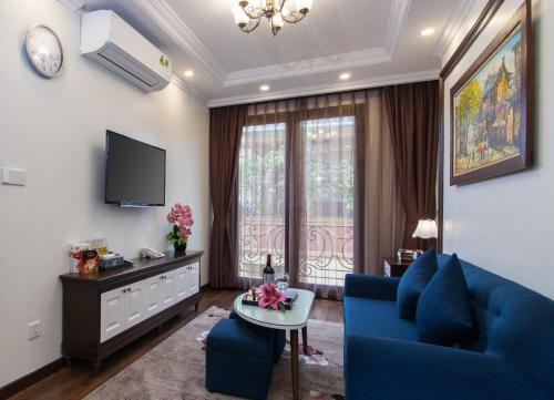 Et opholdsområde på Hanoi Central Hotel & Residences