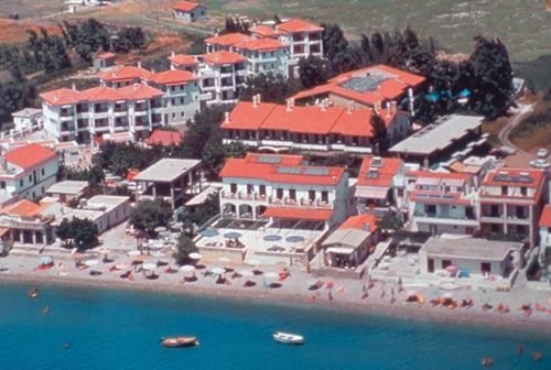 A bird's-eye view of Hydrele Beach Hotel & Village