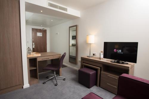 A television and/or entertainment center at Staybridge Suites Birmingham