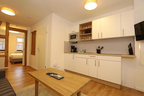 Küche/Küchenzeile in der Unterkunft Aparthotel St. Marien Altstadt