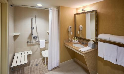 A bathroom at Holiday Inn Express & Suites Huntsville