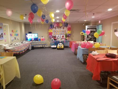 Banquet facilities at the motel
