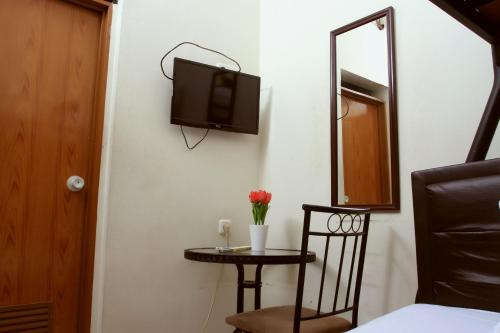 A television and/or entertainment center at Unique Guesthouse