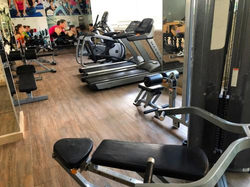 The fitness center and/or fitness facilities at Crystal Aura Beach Resort & Spa