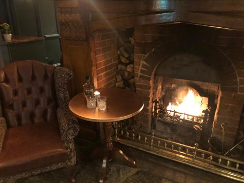A seating area at The Greyhound Inn