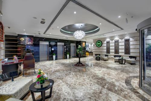 The lobby or reception area at Donatello Hotel