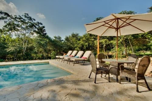 The swimming pool at or near Mystic River Resort