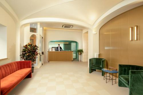 The lobby or reception area at Hotel Colosseum