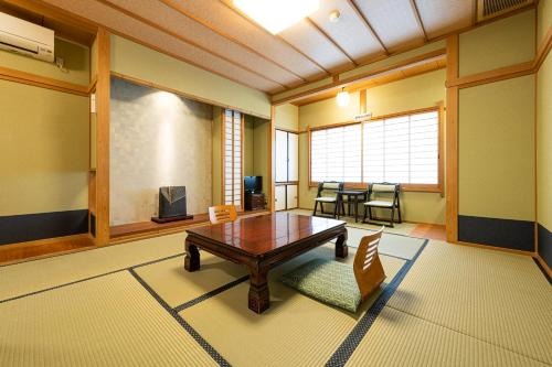 A seating area at Yamadaya Ryokan