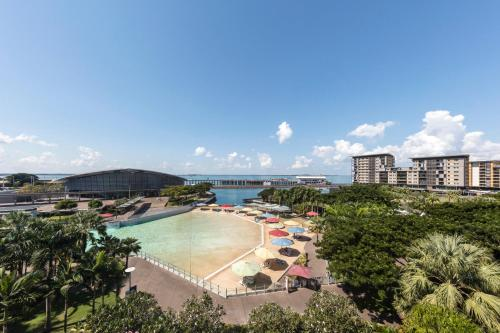 A view of the pool at Adina Apartment Hotel Darwin Waterfront or nearby