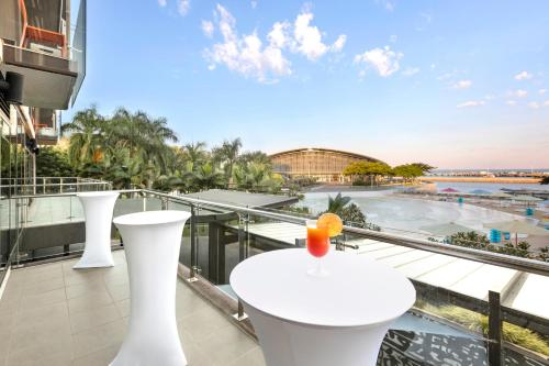 A balcony or terrace at Vibe Hotel Darwin Waterfront