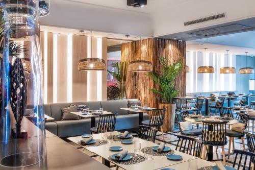 Restaurant ou autre lieu de restauration dans l'établissement Sallés Hotel Pere IV