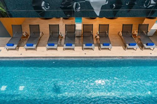 A view of the pool at Maven Stylish Hotel Hua Hin or nearby