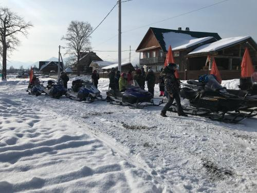 Usadba Novosnezhka during the winter