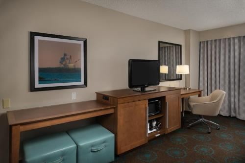 A television and/or entertainment center at Hampton Inn Titusville/I-95 Kennedy Space Center