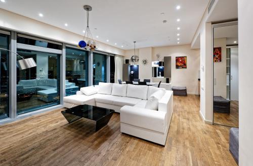Гостиная зона в Sky Elite Moscow City apartment 54 floor Апартаменты Москва Сити 54 этаж