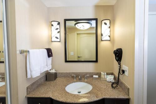 A bathroom at Homewood Suites by Hilton Lawrenceville Duluth