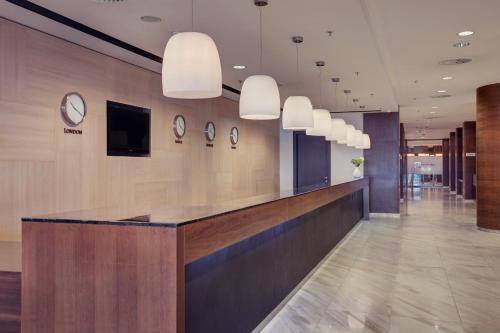 The lobby or reception area at DoubleTree By Hilton Košice
