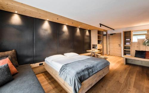 Кровать или кровати в номере Family Home Alpenhof