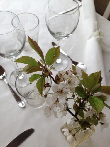 En restaurang eller annat matställe på Fredriksons Pensionat Sjöbacka