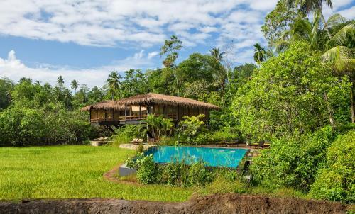 The swimming pool at or near Jetwing Kurulubedda