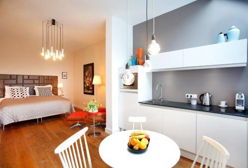 A cozinha ou cozinha compacta de Blue Tulip Amsterdam