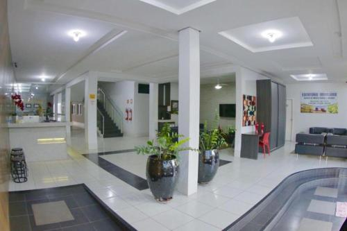 The lobby or reception area at Grande Hotel