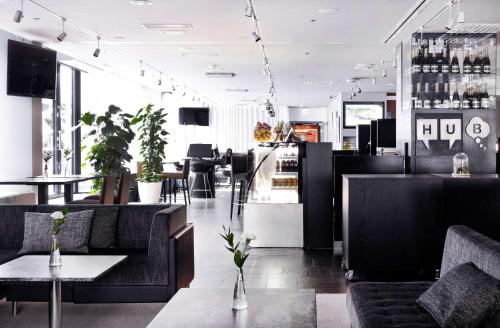 The lounge or bar area at Radisson Blu Plaza Hotel, Helsinki