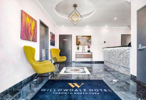 The lobby or reception area at The Willowdale Hotel Toronto North York