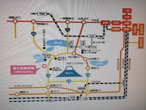 富士山リゾートホテルの見取り図または間取り図