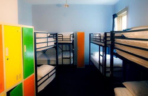 A bunk bed or bunk beds in a room at Backpackers Imperial Hotel