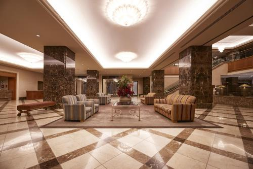 The lobby or reception area at Hotel Metropolitan Nagano