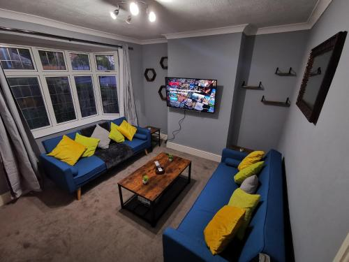 A seating area at Your Night Inn @ i54
