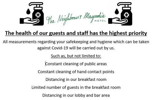 Een certificaat, prijs of ander document dat getoond wordt bij Hotel The Neighbour's Magnolia