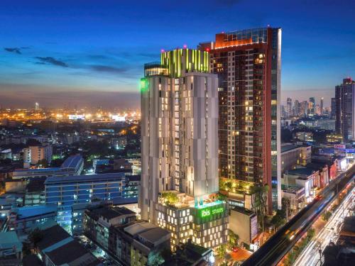 曼谷的景觀或從飯店拍的城市景觀