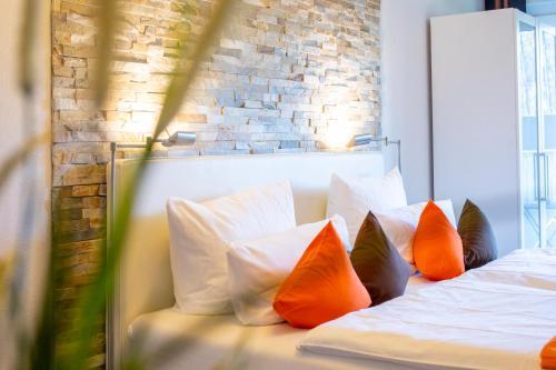 Ein Bett oder Betten in einem Zimmer der Unterkunft Mein Appartement Hürth Köln