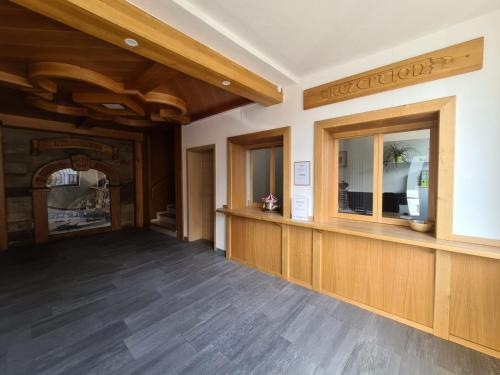 The lobby or reception area at Gasthof Bergfried