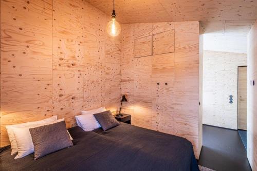 En eller flere senge i et værelse på Aska, Modern Cabin