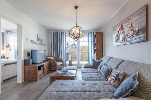 Ein Sitzbereich in der Unterkunft Villa Strandnah - Ferienwohnungen