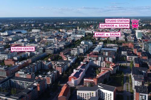 Oulu Hotelli Apartments с высоты птичьего полета